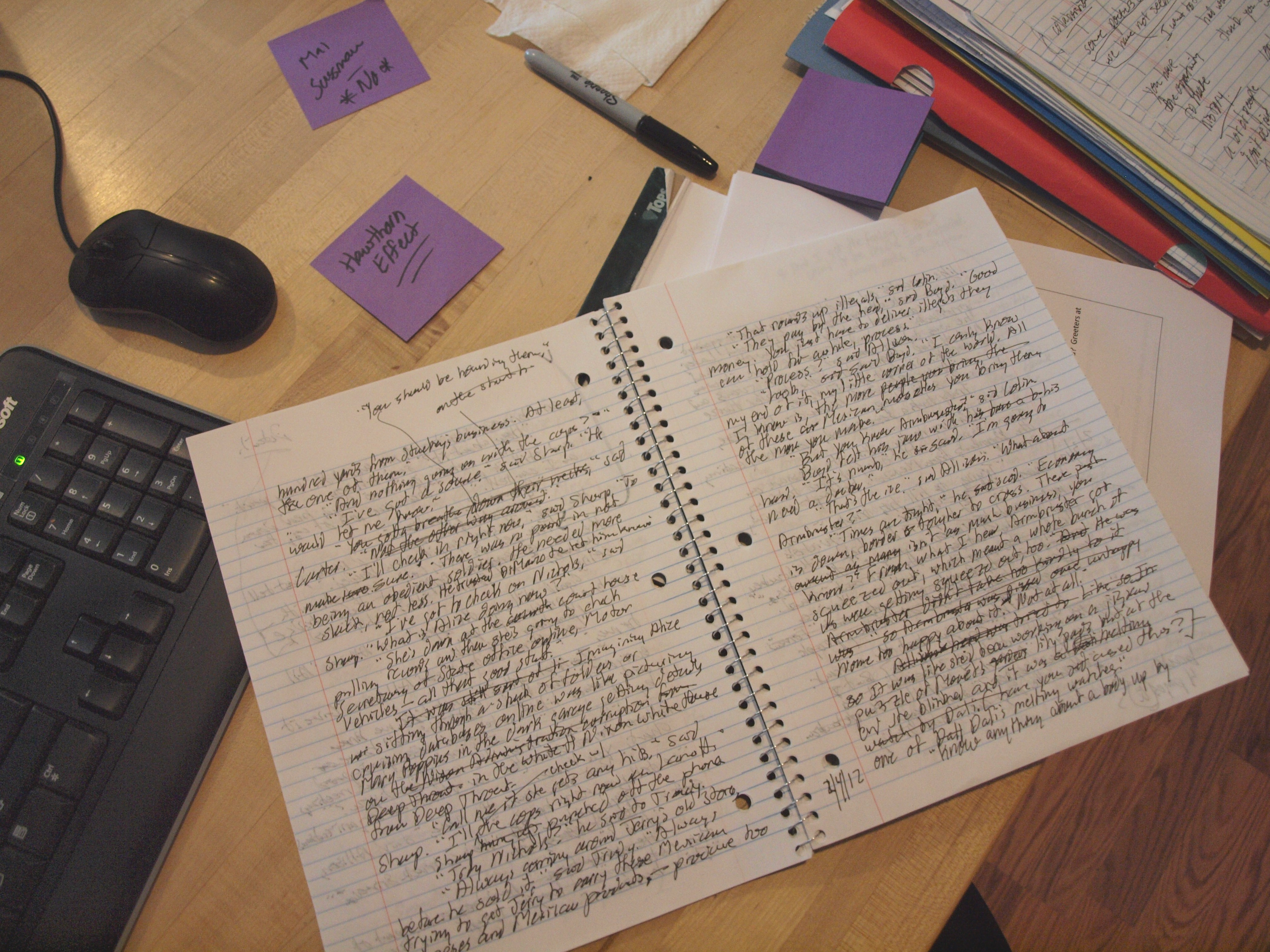 how to take notes for writers