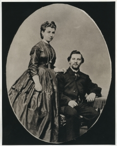 Julia and Abraham Staab, early in their marriage