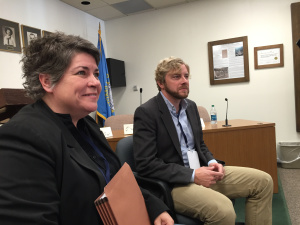 My fellow panelists Sandra Brannan and Tom Bouman in Deadwood, S.D.
