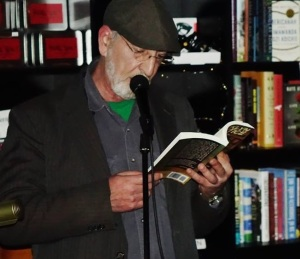 "J.L. Abramo reading at ""Noir at the Bar"" last December at Bookbar (Denver)."